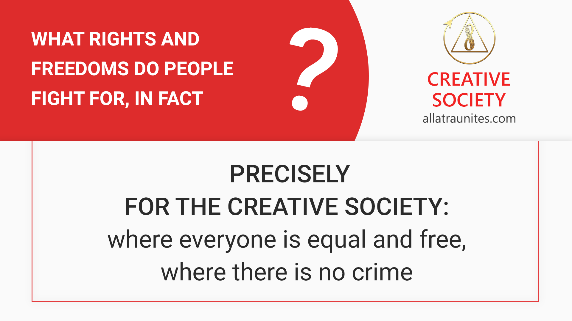 Rights and freedoms of people in the Creative Society