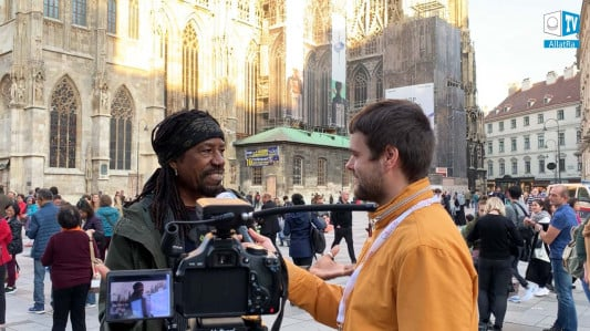 ALLATRA TV team conducted an opinion poll in Vienna