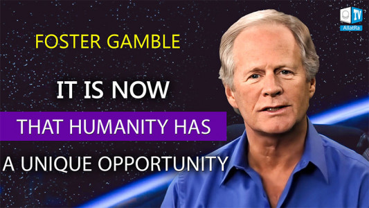"""A tipping point in the fate of mankind. Foster Gamble, author of """"Thrive"""""""